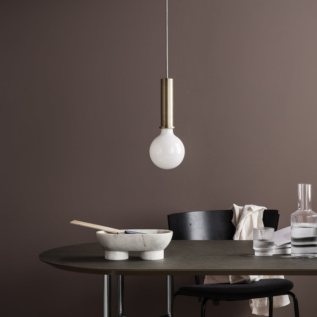 ferm living mingle table top oval 150cm taupe, available from someday designs