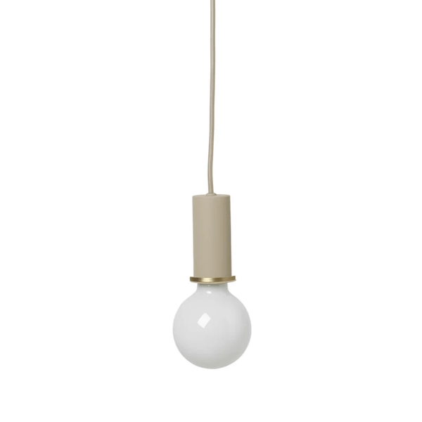 ferm living collect lighting series, socket pendant low in black brass from the ferm living collect lighting series socket pendant low in cashmere. Available from someday designs