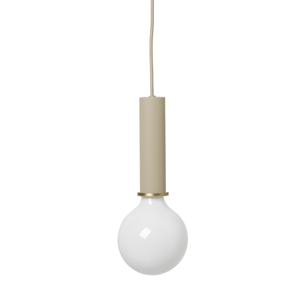 ferm living collect lighting socket pendant high in cashmere, available from someday designs