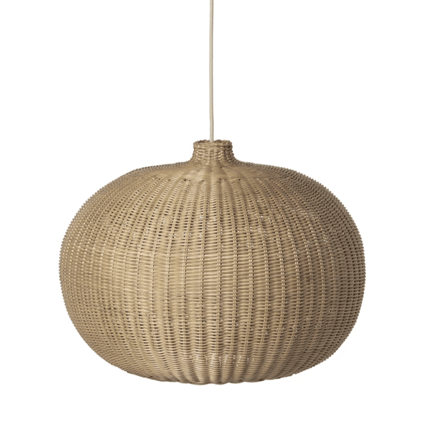 ferm living braided belly lamp shade, available from someday designs
