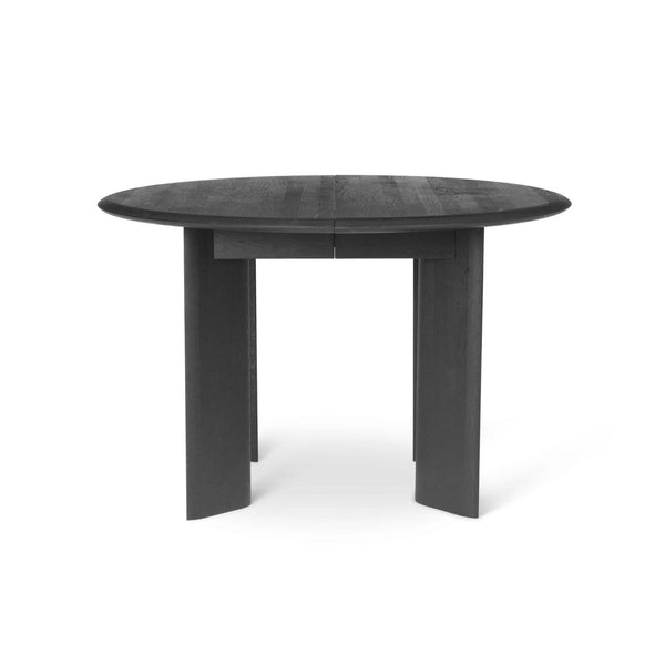 Ferm Living Bevel Table Round in black oiled oak. Available from someday designs