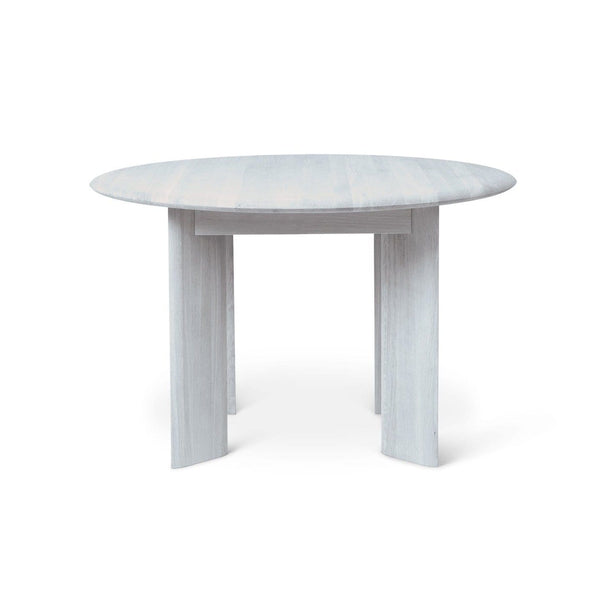 Ferm Living Bevel Table Round in ice blue oiled oak. Available from someday designs