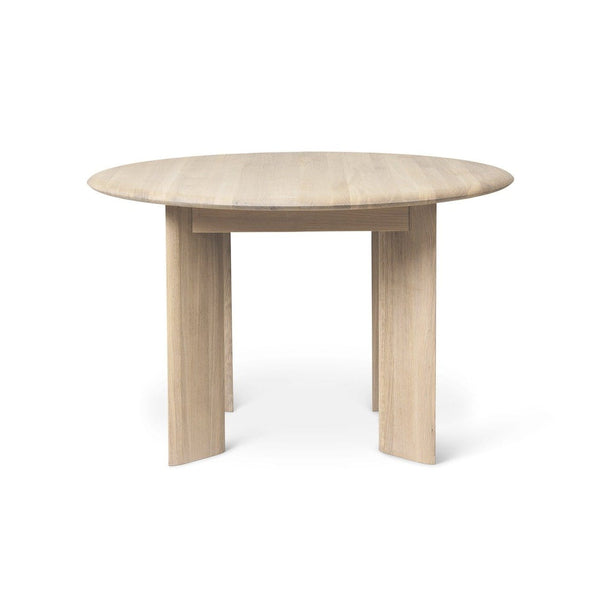 Ferm Living Bevel Table Round in white oiled oak. Available from someday designs