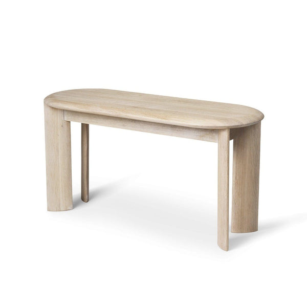 Ferm Living Bevel Bench in white oiled oak finish. Available from someday designs