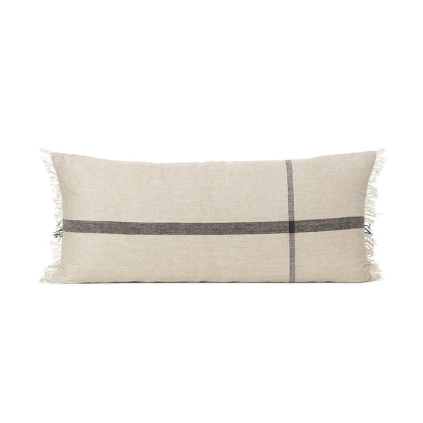Ferm Living Calm cushion 90x45cm in oversized check. Available from someday designs