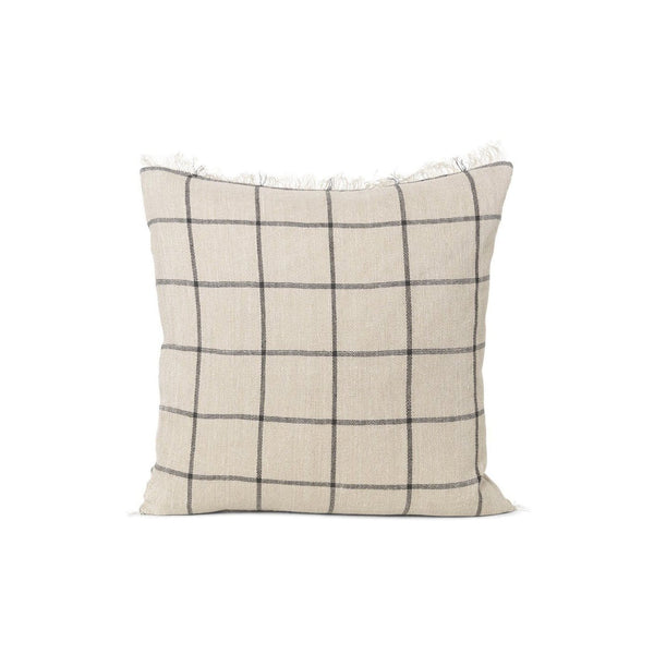 Ferm Living Calm Cushion 50x50 in check. Available from someday designs