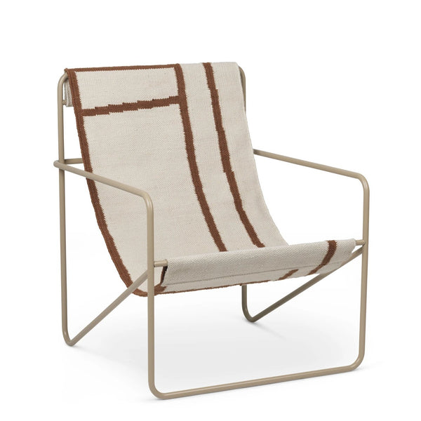 Ferm Living Desert chair with cashmere steel frame and shape woven seat. Available from someday designs.