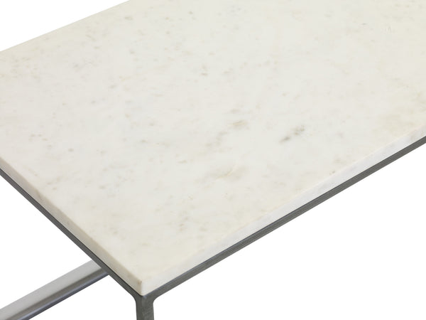 Close up shot of Chelsea marble coffee table rectangle from Content by Terence Conran