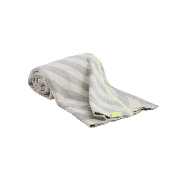 mumi plaid blanket grey | neon yellow