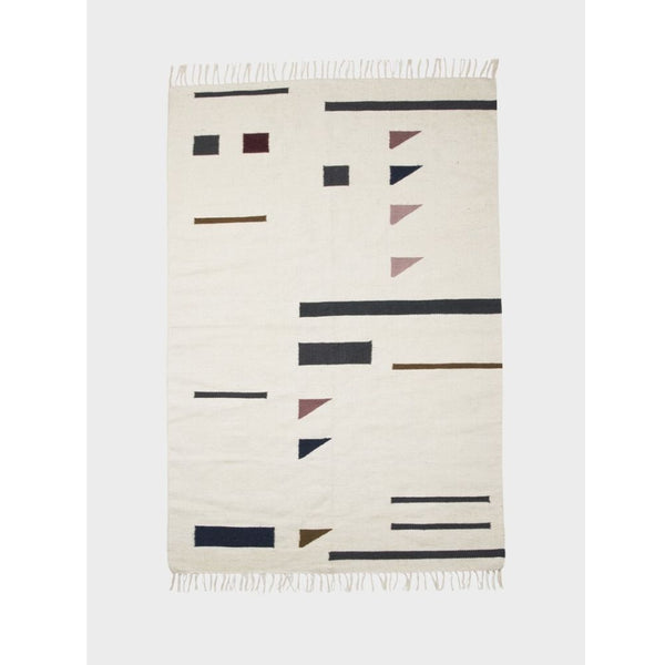 Ferm Living small kelim rug colour triangles, large shop online at someday designs