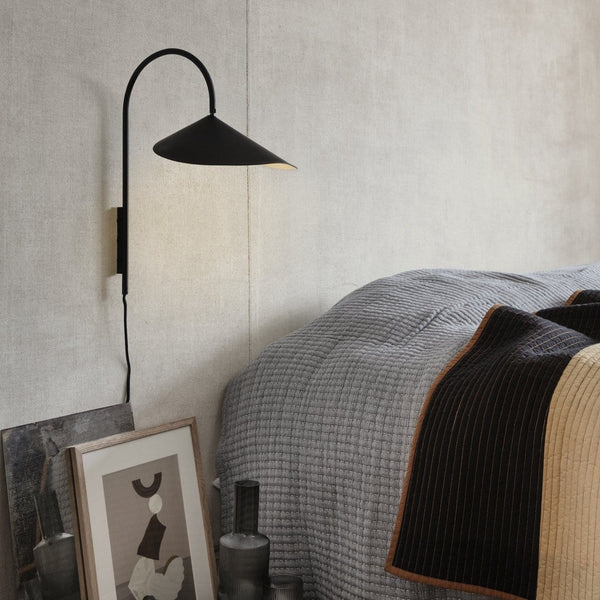 ferm living arum wall lamp, ideal minimalist bedside light. Available to buy from someday designs