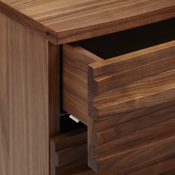 Wave Chest of Drawers in Walnut from Content by Terence Conran - close up of open drawer.