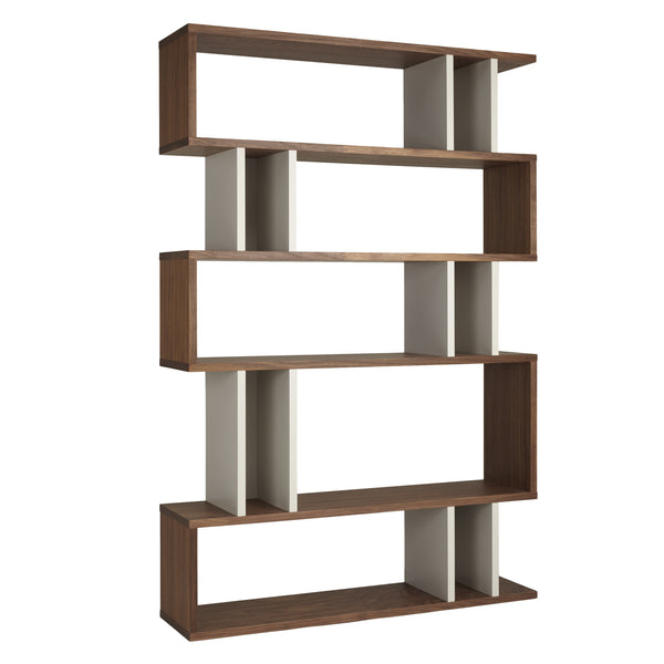 Walnut and Pebble Counter Balance Tall Shelving from Content by Terence Conran
