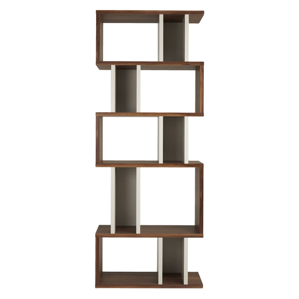 Walnut and Pebble Counter Balance Alcove Shelving from Content by Terence Conran