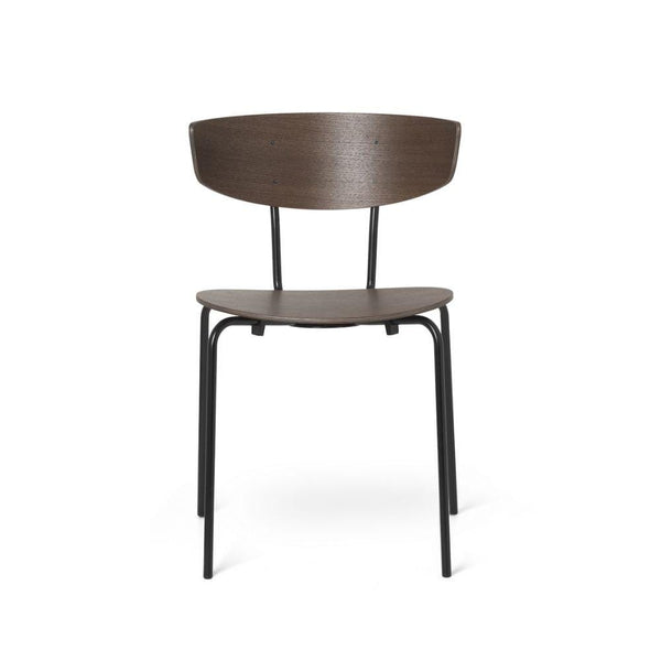Ferm Living Herman Chair in dark stained oak with black legs. Available from someday designs