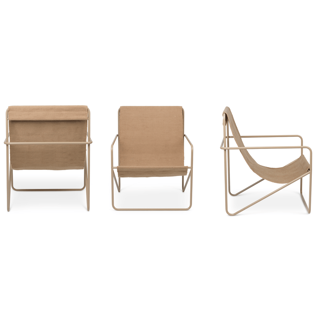 Ferm Living Desert chair with cashmere steel frame and solid woven seat. Available from someday designs.