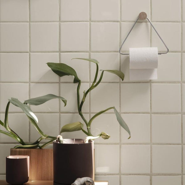 ferm living chrome toilet roll holder for bathrooms. Available from someday designs