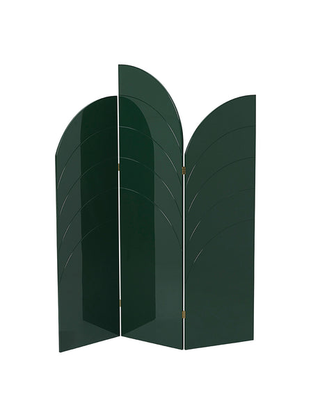 unfold room divider, dark green by Ferm Living