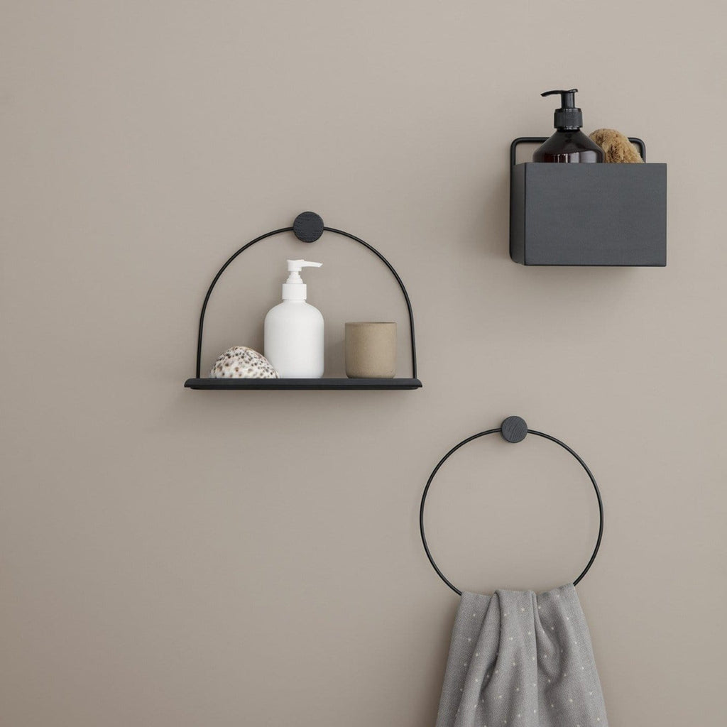 ferm living bathroom shelf black