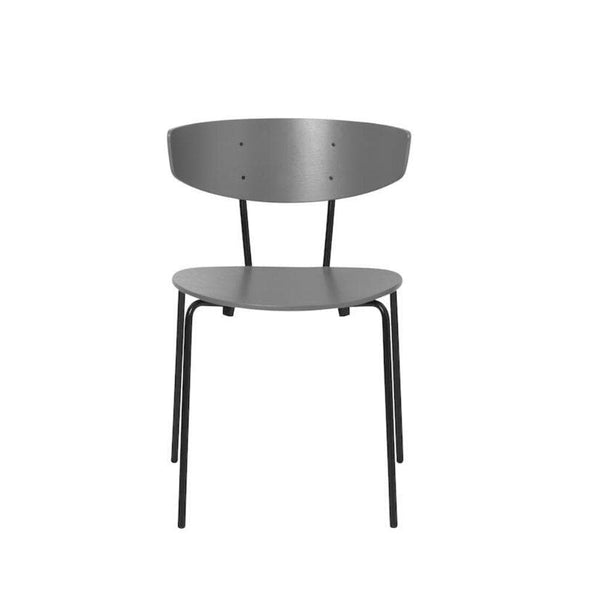 ferm living herman chair in warm grey with black legs. Available from someday designs
