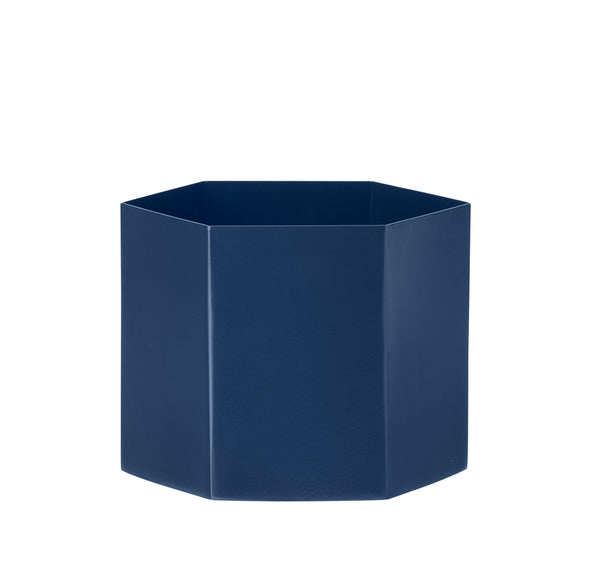 ferm living hex pot xl blue