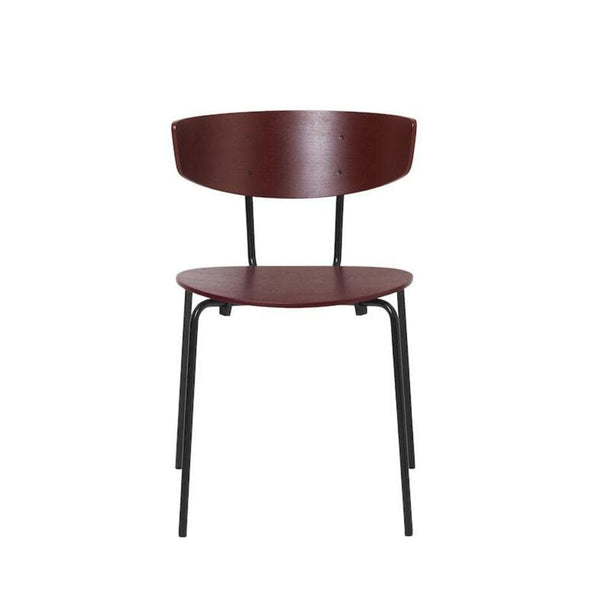 ferm living herman chair in red brown with black legs. Available from someday designs