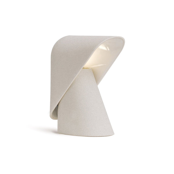VItamin's ceramic K Lamp with a striking silhouette. Ideal table or desk lamp for bedrooms, living rooms or home office