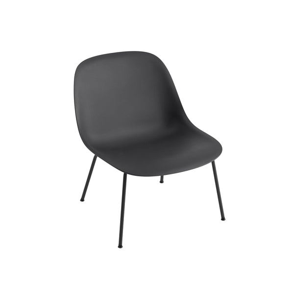 muuto fiber lounge chair black base available from someday designs