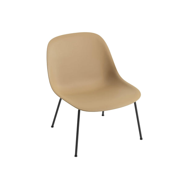 muuto fiber lounge chair ochre seat black base available from someday designs