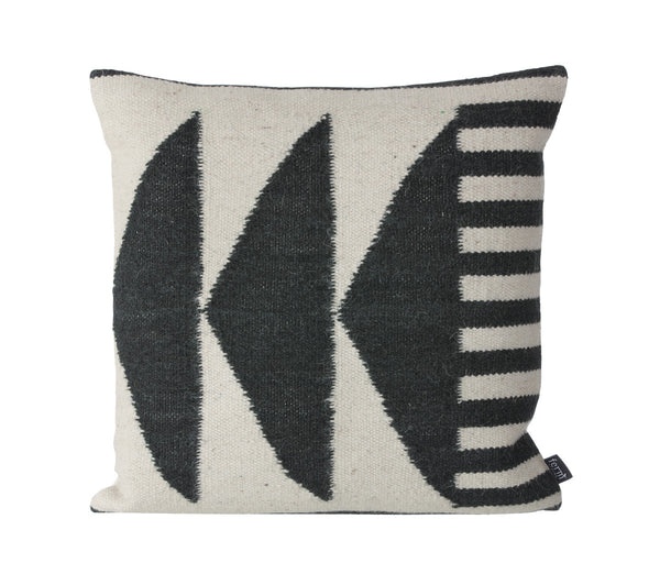 black triangles cushion from Ferm Living