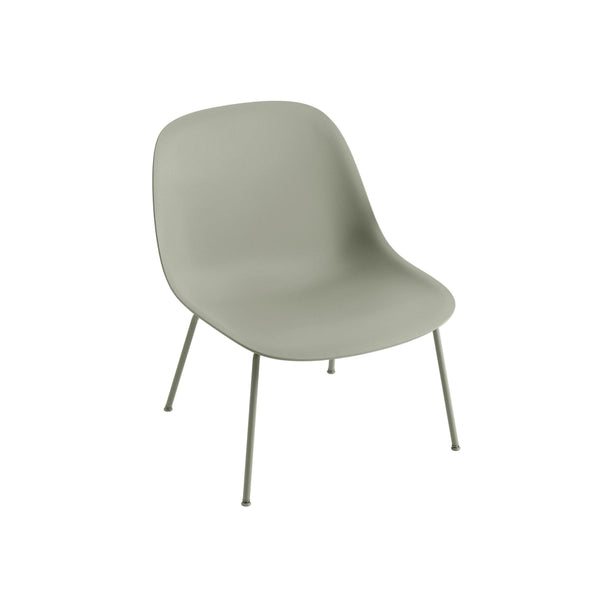 muuto fiber lounge chair dusty green seat black base available from someday designs
