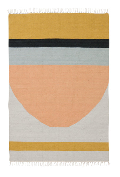 Kelim rug semicircle from Ferm Living