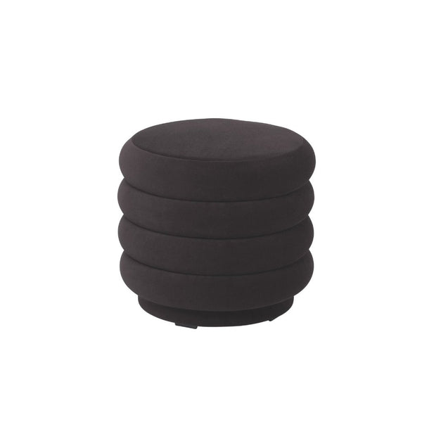 ferm living pouf round small chocolate, available from someday designs