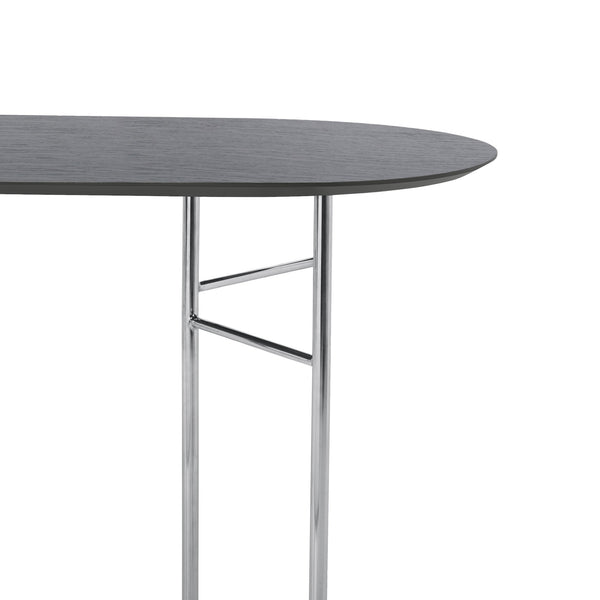 ferm living mingle table top oval 150cm black veneer, available from someday designs