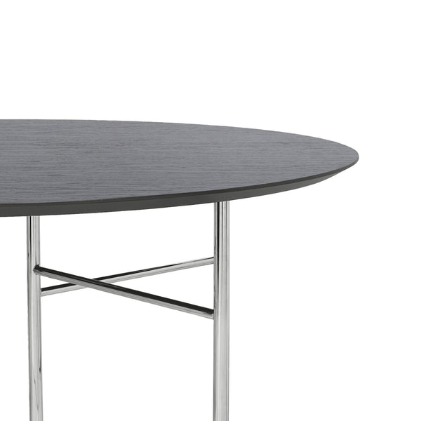 ferm living mingle table top round 130cm black veneer, available from someday designs