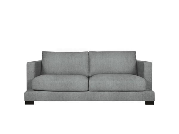 toft 2 seater in pure 02 grey black legs