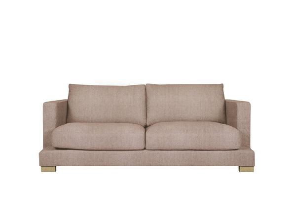 someday designs toft 2 seater sofa in pure 04 nude pink oak legs