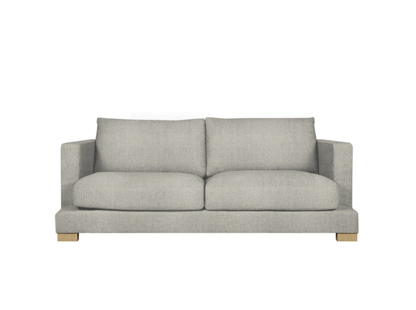 toft 2 seater in pure 03 light grey with oak legs