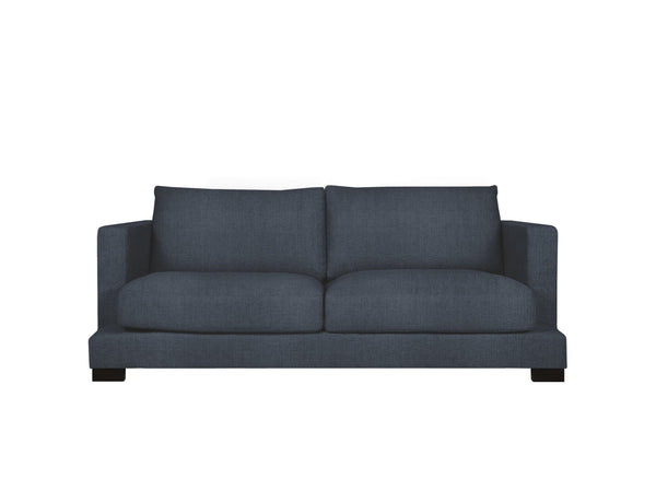 toft 2 seater in pure 01 navy with black legs