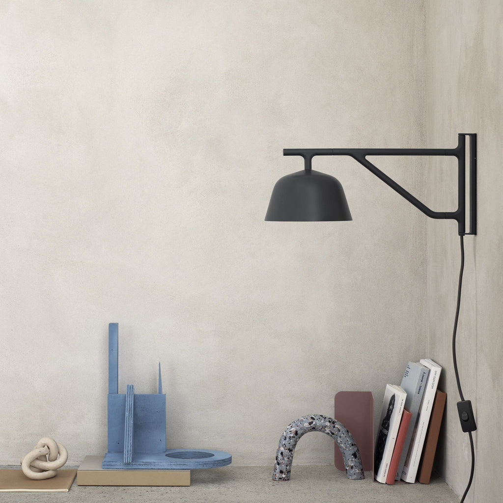 muuto ambit wall lamp in black, available from someday designs