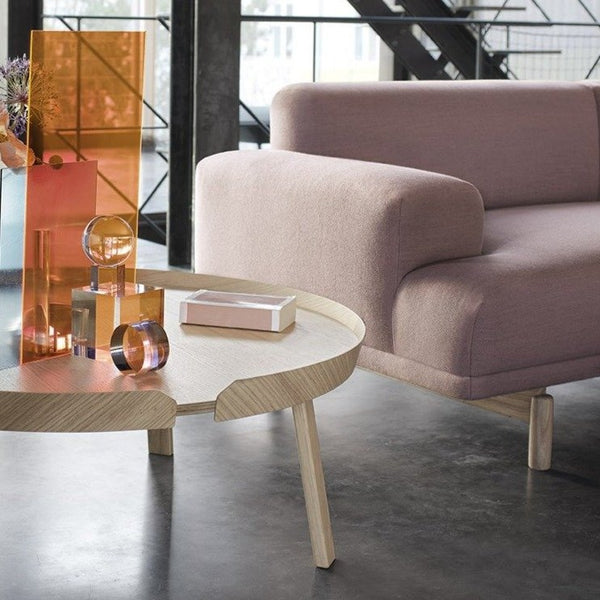 muuto 2 seater compose sofa in pink available at someday designs
