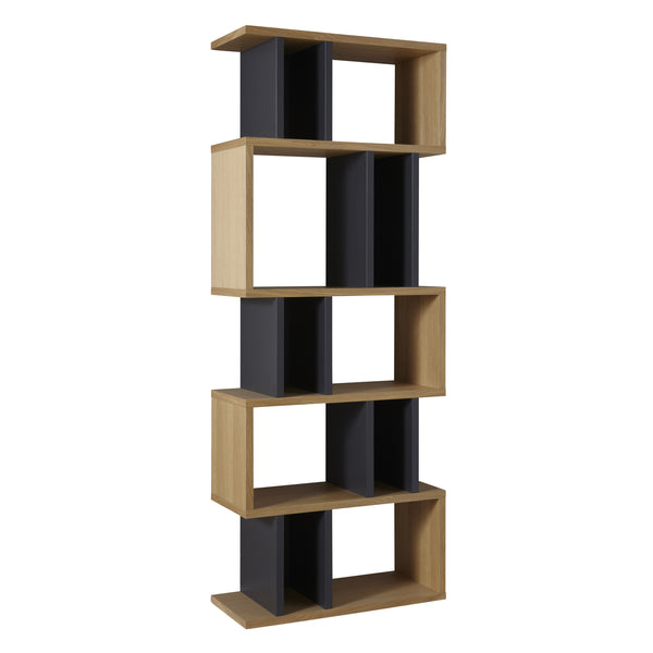 Oak and Charcoal Counter Balance Alcove Shelving from Content by Terence Conran