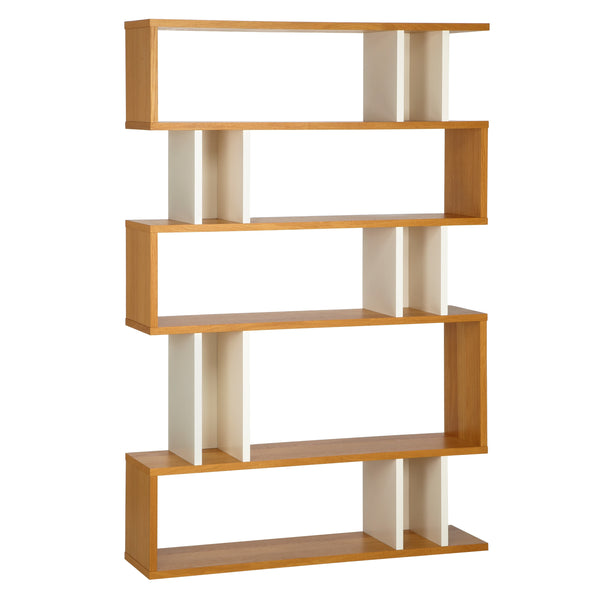 Oak and White Counter Balance Tall Shelving from Content by Terence Conran