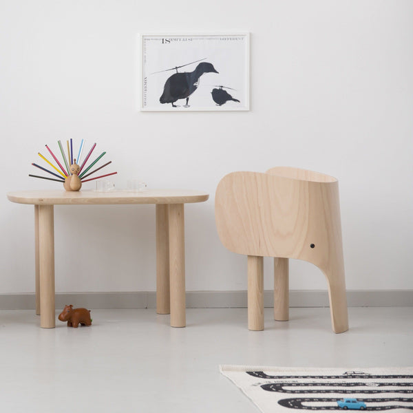 Lifestyle shot of elephant table designed by Marc Venot for Elements Optimal