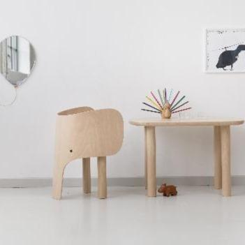 Lifestyle shot of elephant chair designed by Marc Venot for Elements Optimal