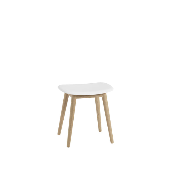 natural white/oak fiber stool by muuto