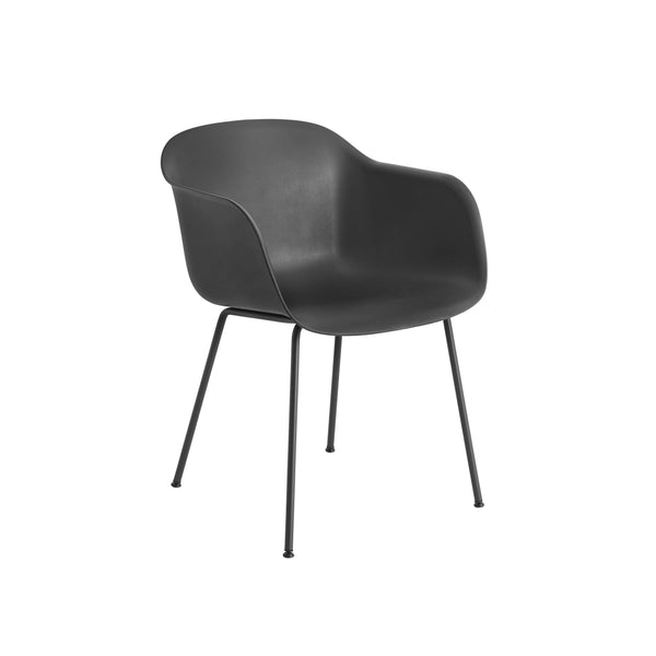 Muuto Fiber Armchair tube base in black, available from someday designs