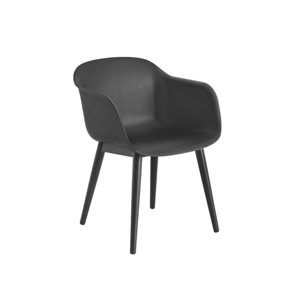 muuto fiber armchair black/black available at someday designs