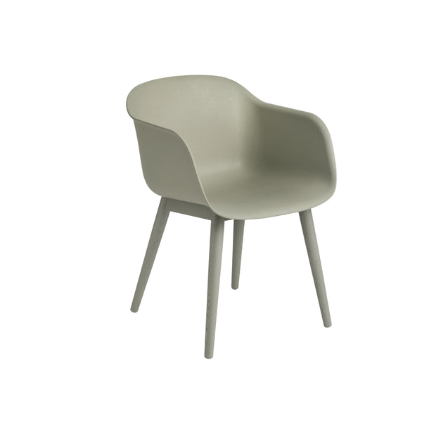 muuto fiber armchair dusty green with wood base, available at someday designs
