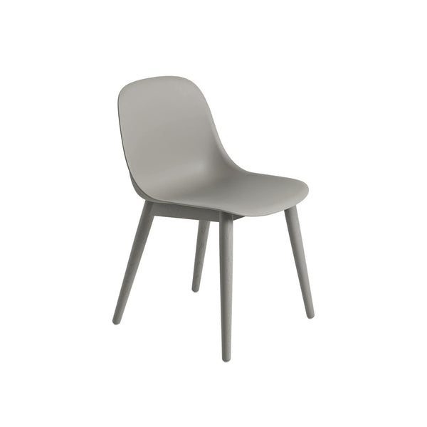 Muuto Fiber Side Chair Wood Base in grey, available from someday designs